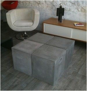 17 best images about table basse on pinterest bass - Table basse imitation beton ...