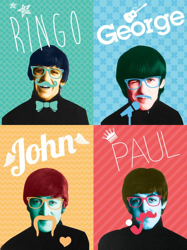 The Beatles - Pop Art by Diogo Fernandes, via Behance