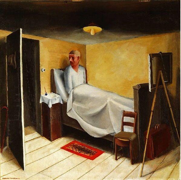 Niklaus Stoecklin - Selbstporträt im Bett