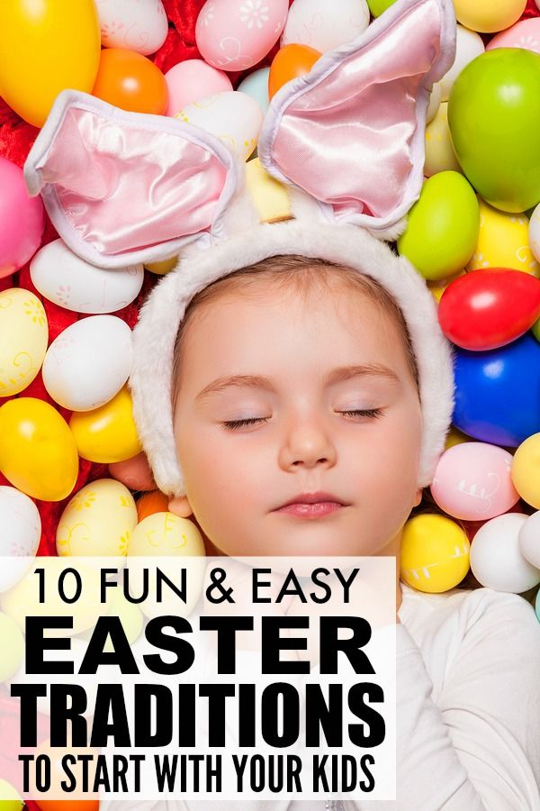 If you're looking for Easter ideas to get your kids excited about the Easter bunny paying them a visit, this list of 10 Easter traditions for kids is for you! From Easter crafts to Easter foods to Easter activities, it is FILLED with great ideas to get everyone in the Easter spirit. I can't wait to try #s 3 and 4 on Easter Eve!