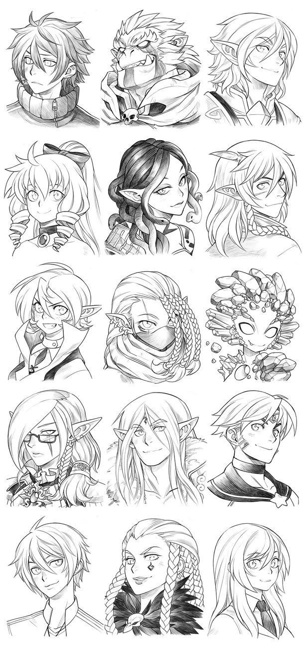 160418 - Headshot Commissions Sketch Dump 18 by Runshin