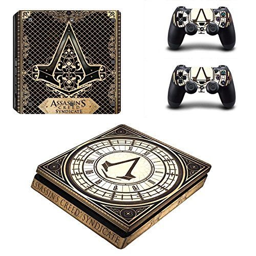 MightyStickers  Assassins Creed Syndicate Clock PS4 Slim Console Wrap Cover Skins Vinyl Sticker Decal Protective for Sony PlayStation 4 Slim  Controller *** Click image to review more details.Note:It is affiliate link to Amazon.