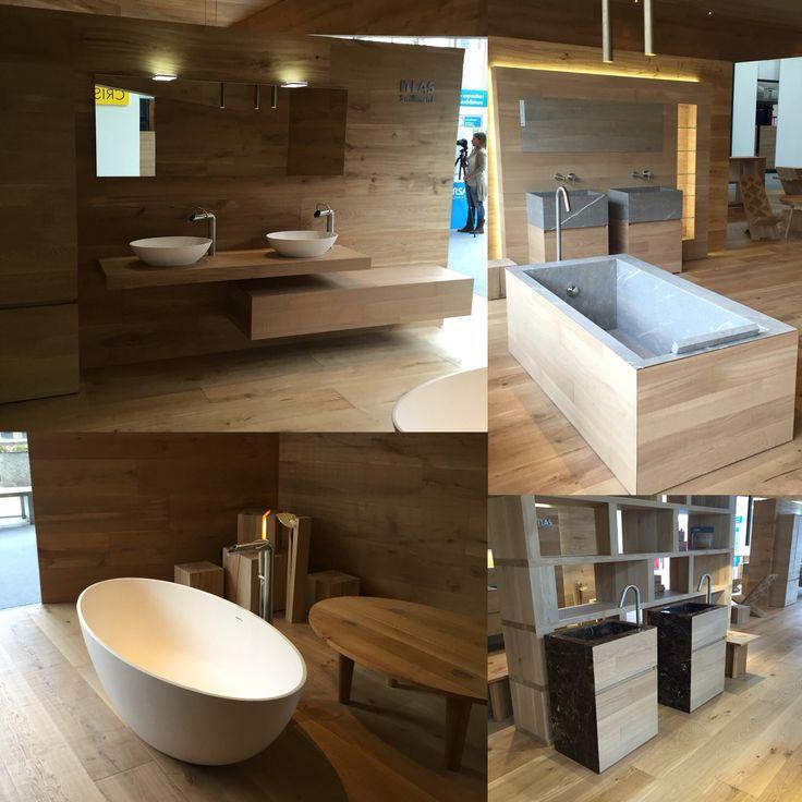 Itlas 5 millimetri! Vasche, mobili, mensole e lavabi in abbinamento a superfici da rivestimento pavimenti e pareti in parquet.