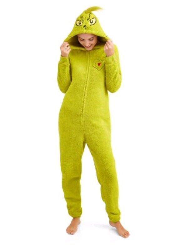fc227db0f Dr Seuss Grinch One piece Full Body Pajamas PJ s Soft Costume ...