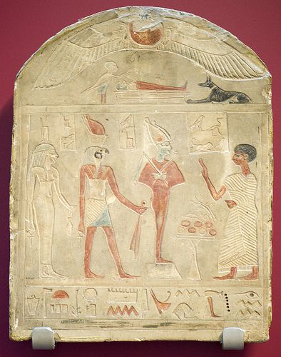 Tomb stela of a priest of Amun (RMO Leiden, Abydos 100bc-100ad)Abydos 100Bc100Ad