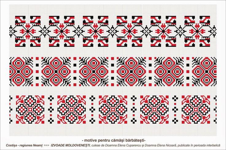 Semne Cusute: Romanian traditional motifs - MOLDOVA - Neamt - Costisa