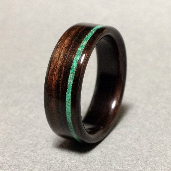 Hey, I found this really awesome Etsy listing at https://www.etsy.com/listing/254334090/ebony-wood-ring-with-malachite-stone