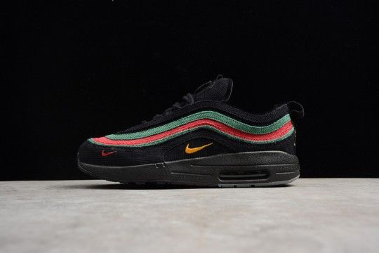a4ebd805f57ed Custom Gucci x Nike Air Max 1/97 Hybrid Black/Red/Green | Stuff to ...