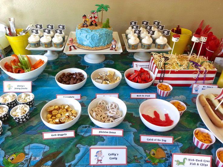 Jake & the neverland pirates - Thema Piraat - ideetjes voor eten