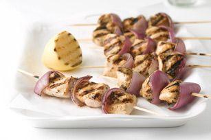 Grilled Greek Chicken Kabobs recipeChicken Recipe, Kraft Greek, Greek Chicken Kabobs, Kraft Food, Chicken Kabobs Recipe, Grilled Greek, Kabob Recipes, Greek Food, Chicken Marinades