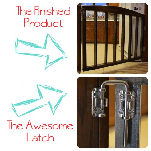 Rough instructions, but good tip for a D.I.Y baby/pet gate in an area that is extra wide,- I like this latch