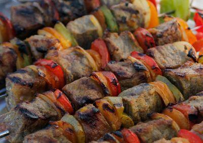 Siba's beef Sosaties - marinade and USA recipe here: http://www.cookingchanneltv.com/recipes/siba-mtongana/sosaties.html