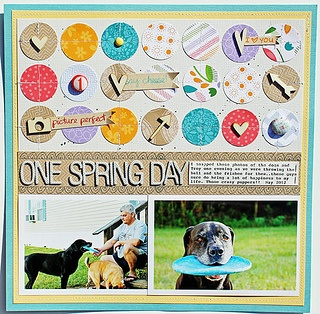 One-Spring-Day---Layout by LFDT13, via Flickr: Lawn Fawns, Cards Design, Scrapbook Inspiration, Cards Scrapbook, Awesome Design Definitions, Eye Catcher, 12X12 Scrapbook, Scrapbook Layout, 12 Layout