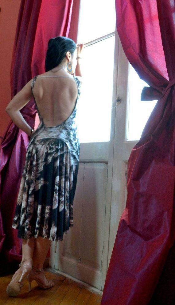 Dansende+veren+Tango+jurk+van+Selalma+op+Etsy
