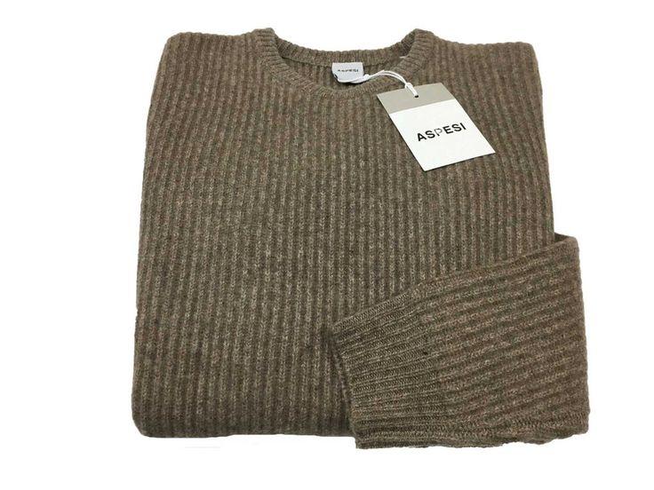 ASPESI maglia uomo costa inglese tortora mod M196 65% lana 25% yack10% cashmere