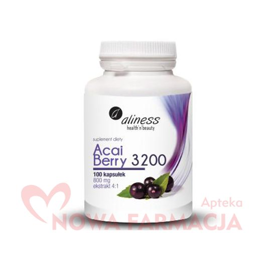 aliness Acai Berry 3200 - kapsułki, 100 sztuk