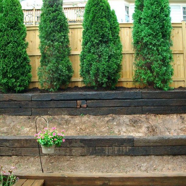 Best 25 Garden Steps Ideas On Pinterest: Best 25+ Railroad Ties Landscaping Ideas On Pinterest