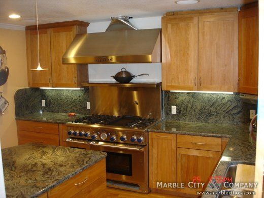 grey granite kitchen countertops |  green granite kitchen