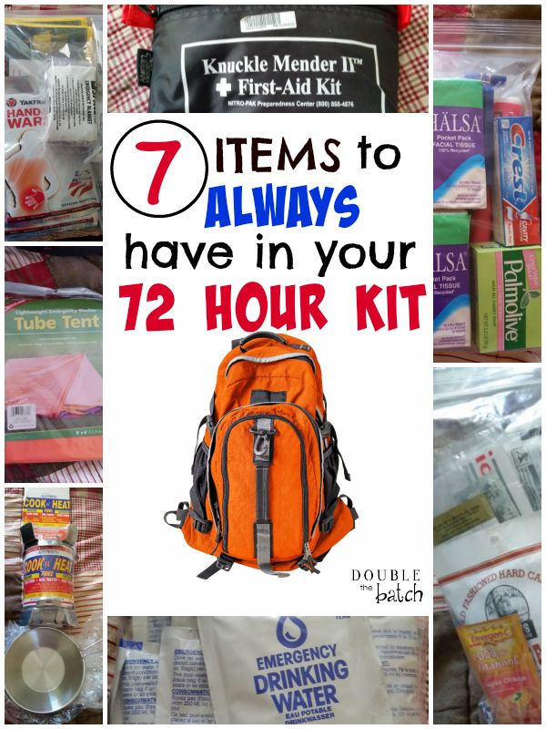72 Best Images About Stuff I Like On Pinterest: 7 Top Items To Always Have In Your 72 Hour Kit.