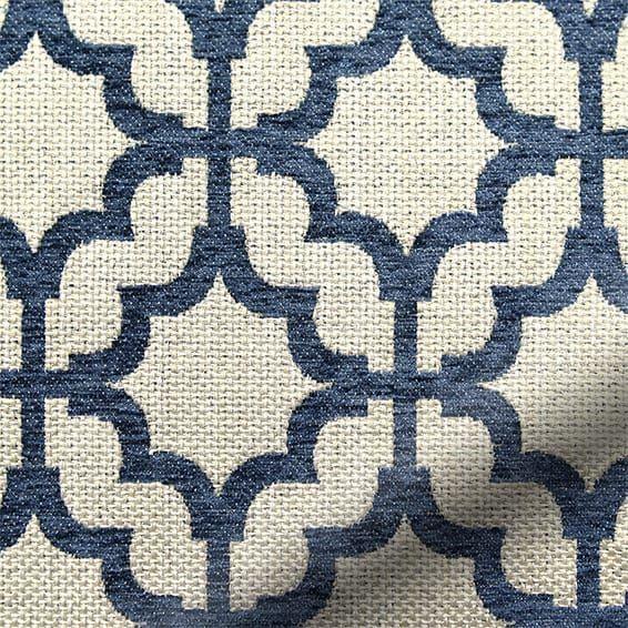 Lattice Navy Blue Curtains