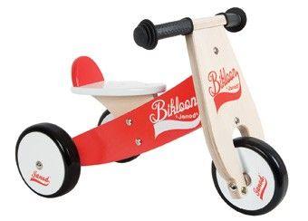 driewieler Bikloon loopfiets vanaf 12 mnths Janod | kinderen-shop Kleine Zebra
