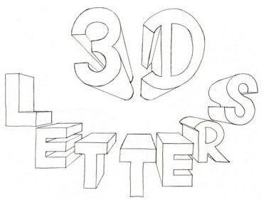 3d bubble letters az