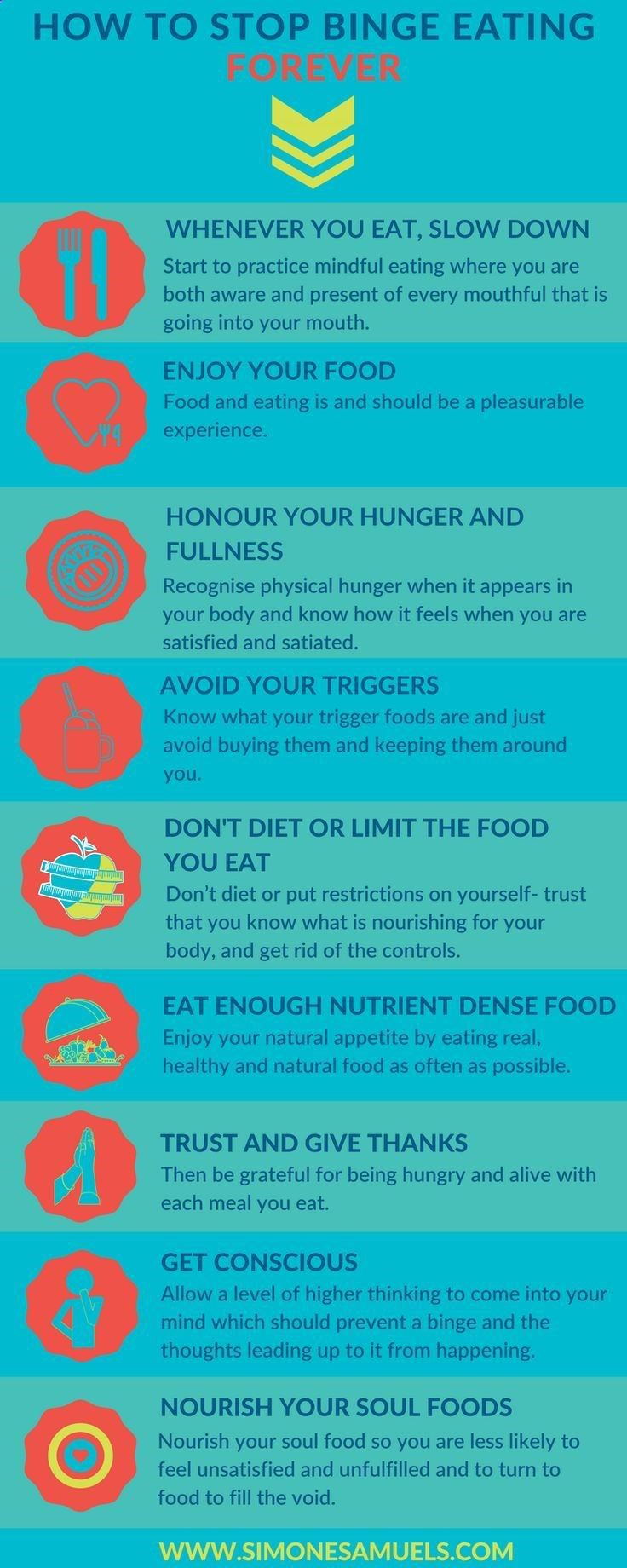 How to stop binge eating forever infographic healthy infographic bingeeating