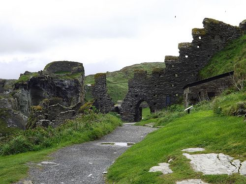 Tintagel Castle, Cornwall County. Rumored birthplace of King Arthur.