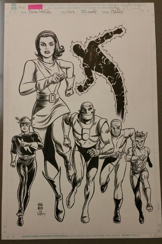 Mike Allred - Doom Patrol Comic Art