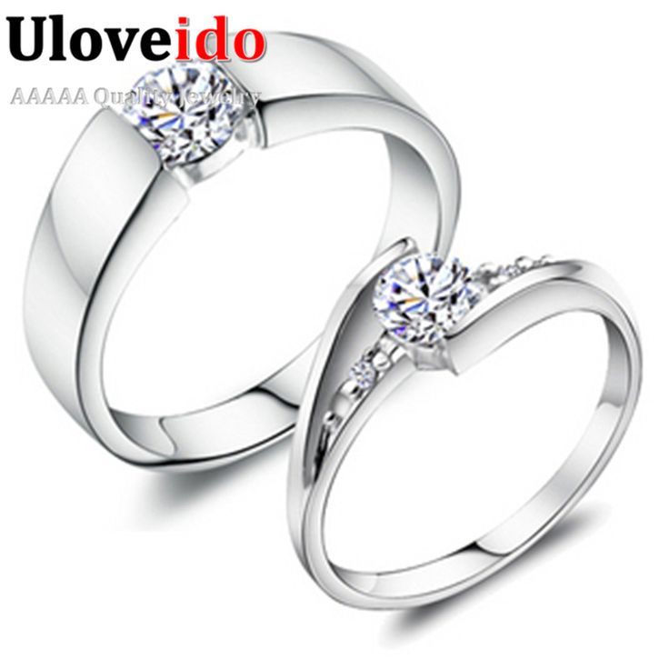 Find More Rings Information about Fashion Simulated Diamond Jewelry White and Rose Gold Plated Engagement Rings Wedding Love Ring for Women 2015 Ulove J045,High Quality ring rhodium,China ring hematite Suppliers, Cheap ring cnc from ULOVE No.2 Fashion Jewelry Store  on Aliexpress.com