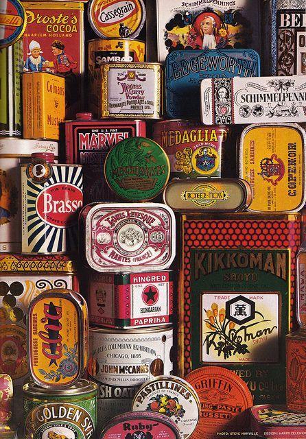 Vintage tin cans Förpackad -Sveriges största förpackningsblogg Förpackningsdesign, Förpackningar, Grafisk Design » Vackra plåtburkar - CAP&Design - Nordens största tidning för kreativa formgivare