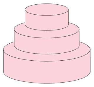 Average Pan Sizes For  Teir Cake Wedding
