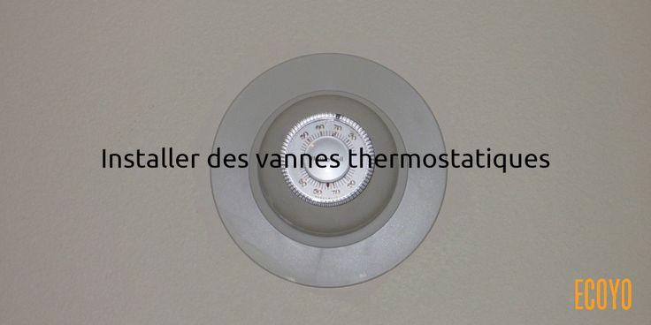 Astuce #ECOYO du jour: Installer des vannes thermostatiques  Des vannes thermostatiques complètent idéalement un thermostat d'ambiance. Le thermostat d'ambiance détermine quand doit s'enclencher votre chaudière, et la vanne thermostatique détermine si le radiateur sur lequel elle est installée doit chauffer. Par exemple, vous  pouvez ainsi faire chauffer votre living à 19°C et garder votre chambre sur 16°C