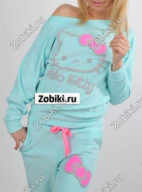 Спортивный велюровый костюм Hello Kitty