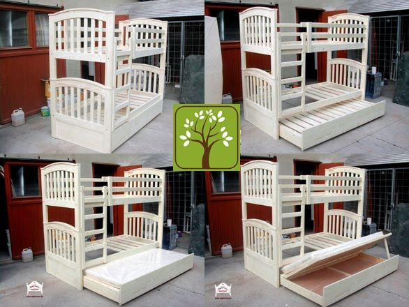 Ágymester emeletes ágy, ágyneműtartós vendégággyal szerelve