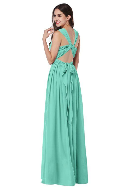 f2a9842d5c0 Simple Halter Criss-cross Straps Chiffon Floor Length Plus Size Bridesmaid  Dresses