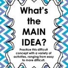 Main idea is a difficult concept for students to grasp.  Before having students identify the main idea within text, have students determine the mai...