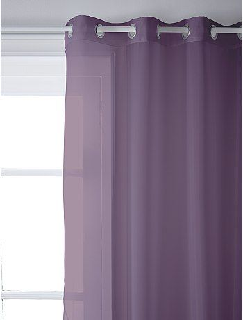 Voilage à oeillets Linge de lit - figue à 6,99€ - Découvrez nos collections mode à petits prix dans notre rayon Voilage.