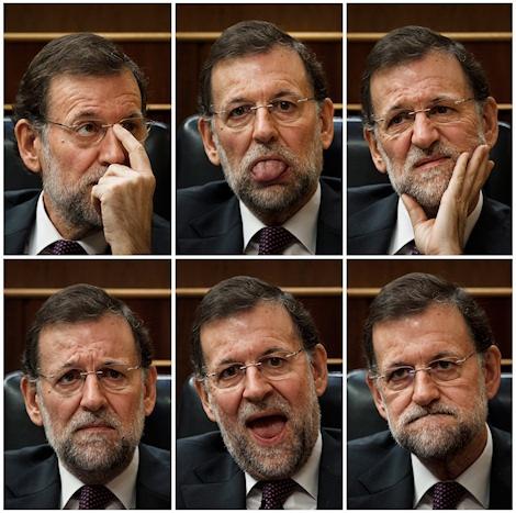Las mil y un caras de Rajoy.