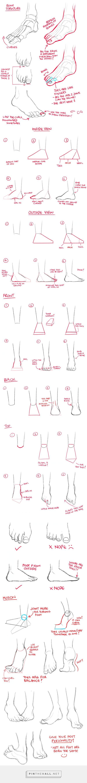 Técnicas de dibujo de un pie                                                                                                                                                                                 Más