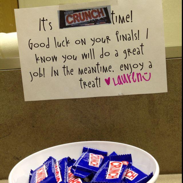 """""""Crunch Time"""" - Finals"""