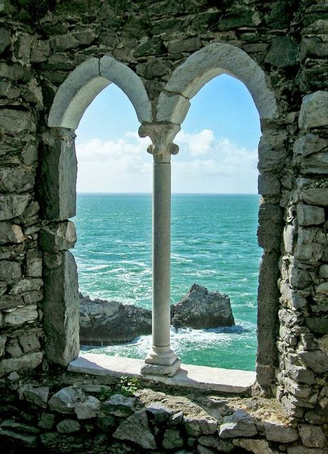 Window to the Sea - #Portovenere, Italy www.caduferra.it