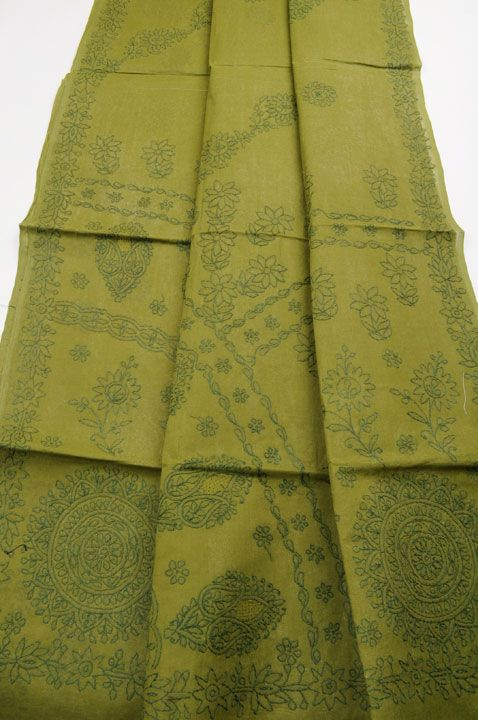 Lucknow Chikankari Embroidery $62 http://sarishop.com/zencart/index.php?main_page=product_info&cPath=57&products_id=565