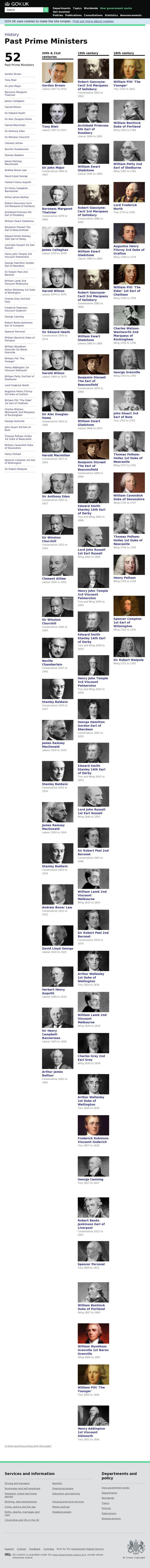 The website 'https://www.gov.uk/government/history/past-prime-ministers' courtesy of @Pinstamatic (http://pinstamatic.com)