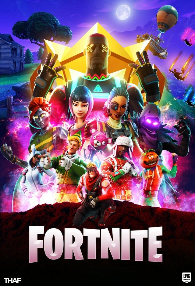 Made this poster for Fortnite after the Avengers crossover