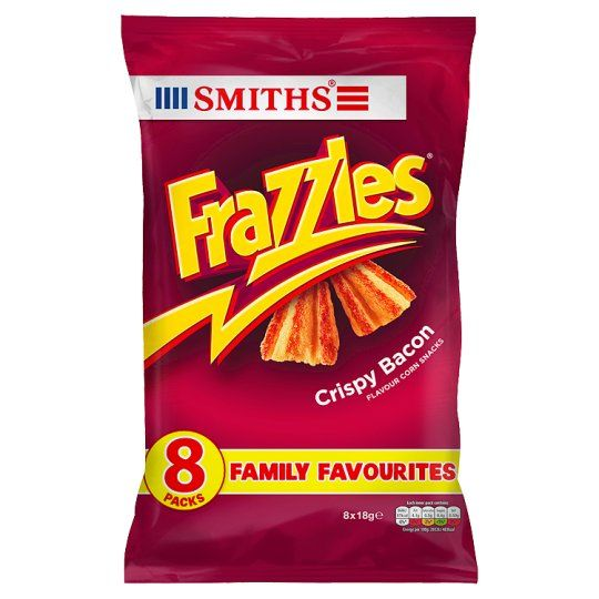 Walkers Frazzles Bacon Snacks 8 Pack