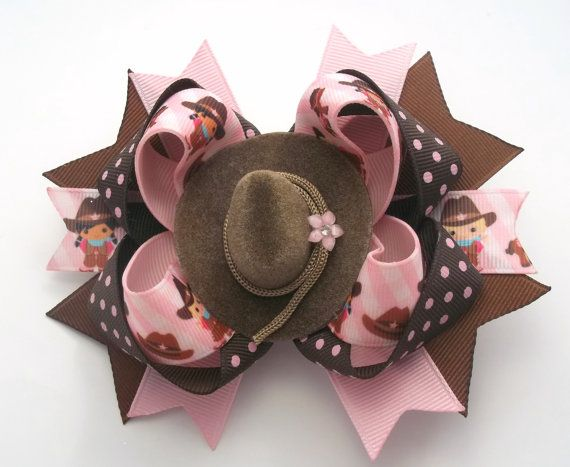 Country Western Hair Bow Country Girl by JustinesBoutiqueBows
