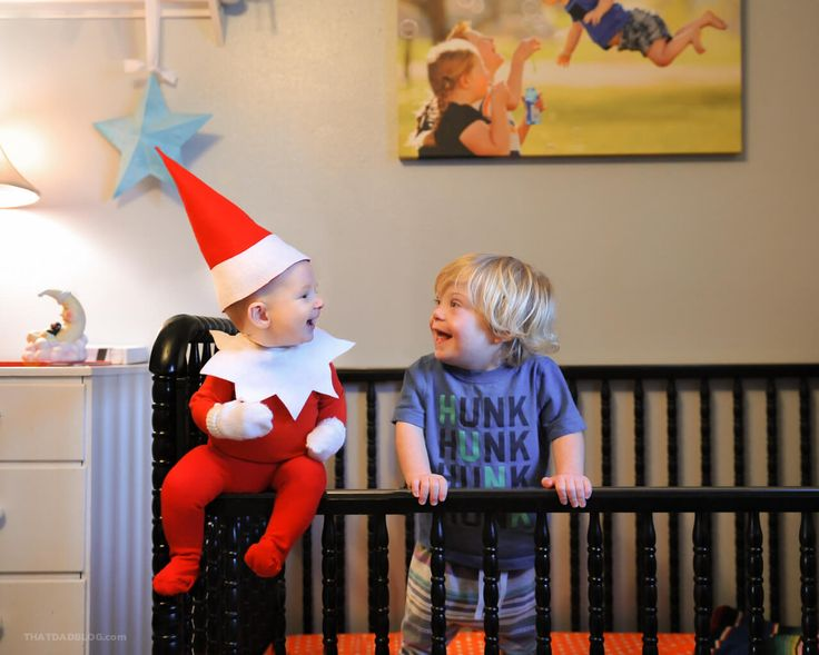 'Flying' Boy With Down Syndrome Meets the World's Cutest 'Elf on the Shelf'