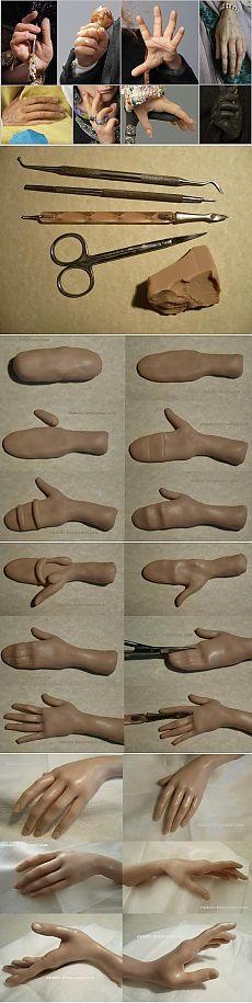 Рука из полимерной глины. МК Plus