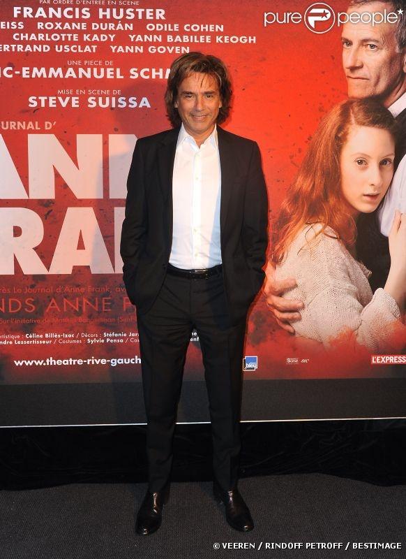 Jean-Michel Jarre à la première de la pièce  Anne Frank  au Théâtre Rive Gauche à Paris, le 11 septembre 2012.